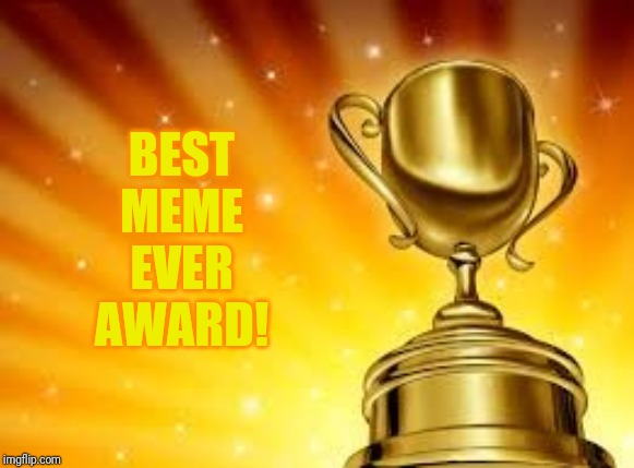 Award | BEST MEME EVER AWARD! | image tagged in award | made w/ Imgflip meme maker