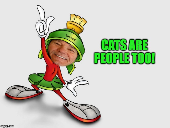 kewlew as marvin the martian | CATS ARE PEOPLE TOO! | image tagged in kewlew as marvin the martian | made w/ Imgflip meme maker