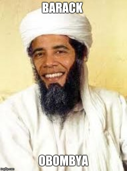 Bombya | image tagged in osama bin laden,barack obama | made w/ Imgflip meme maker