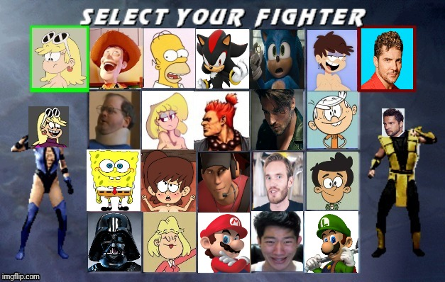 My NEW UMK3 Roster Remake 3.0 | image tagged in memes,mortal kombat,the loud house,spongebob,mario,sonic the hedgehog | made w/ Imgflip meme maker