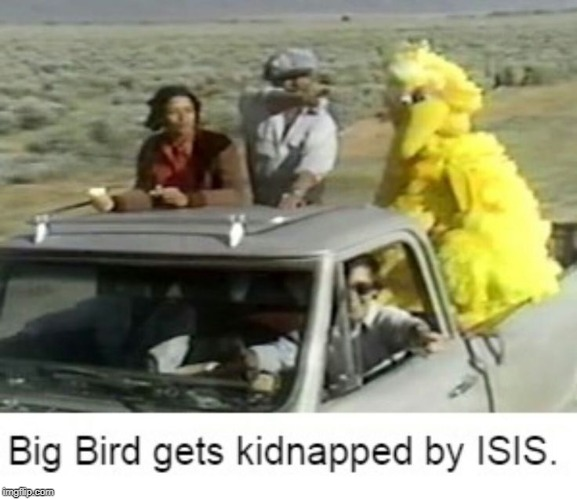 had a chuckle when i saw this | image tagged in sesame street,big bird | made w/ Imgflip meme maker