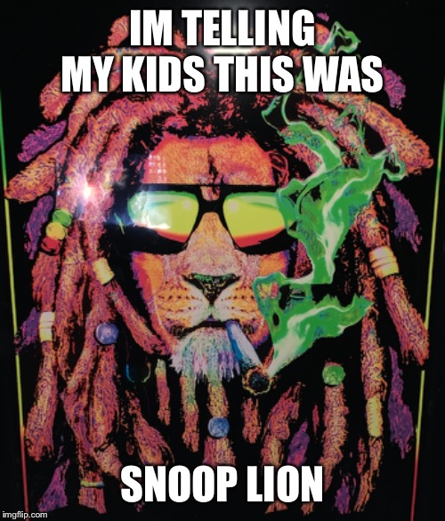 IM TELLING MY KIDS THIS WAS SNOOP LION | image tagged in memes,funny memes,snoop | made w/ Imgflip meme maker
