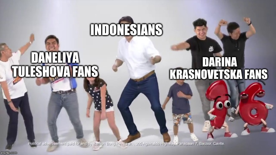 Ukraine and Kazakhstan junior eurovision singer fan meet and greet (2019, colorized) |  INDONESIANS; DARINA KRASNOVETSKA FANS; DANELIYA TULESHOVA FANS | image tagged in memes,fake history,funny,indonesia,kazakhstan,ukraine | made w/ Imgflip meme maker