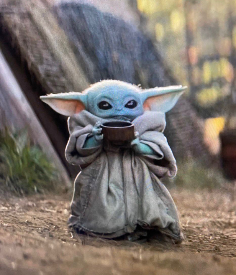 Baby Yoda Drinking Tea Blank Template Imgflip
