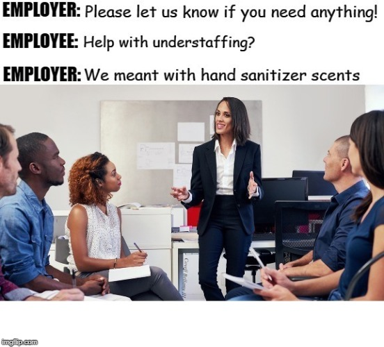Employer Hook Up | image tagged in employer hook up | made w/ Imgflip meme maker