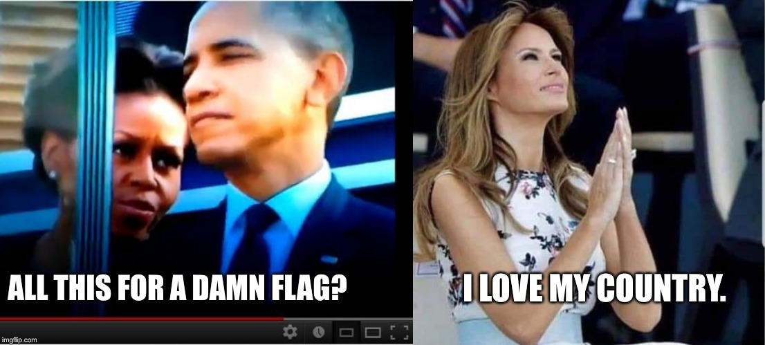 You Decide... |  I LOVE MY COUNTRY. ALL THIS FOR A DAMN FLAG? | image tagged in melania trump,michelle obama,truth | made w/ Imgflip meme maker