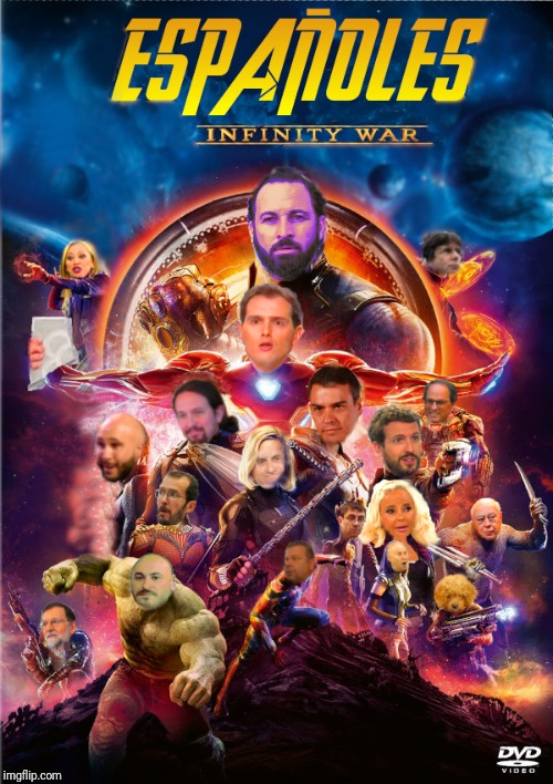 España Infinity war | image tagged in memes,politica,infinity,infinity war,abascal,espana | made w/ Imgflip meme maker