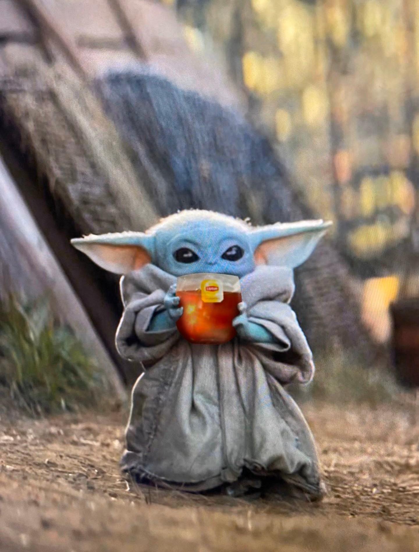 Baby Yoda Tea Blank Template Imgflip