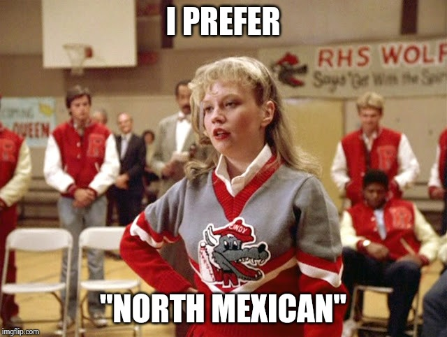 "Not so Cheerleader | I PREFER ""NORTH MEXICAN"" 