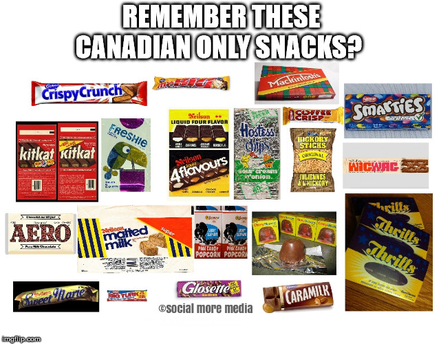 Canada | REMEMBER THESE CANADIAN ONLY SNACKS? | image tagged in canada,chocolate,snacks,canadian only,vintage,1980s | made w/ Imgflip meme maker