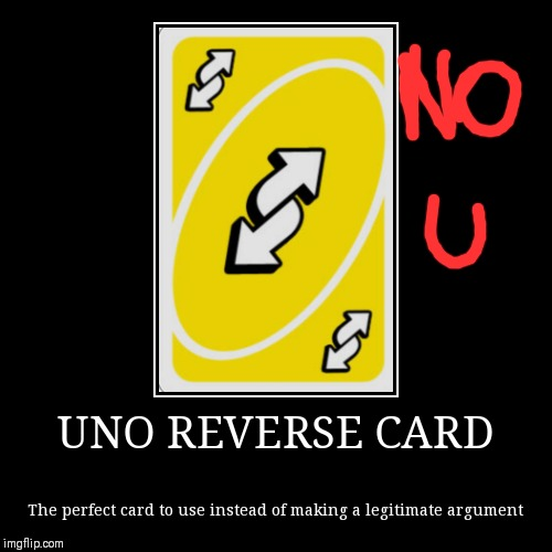 """NO U!!!"" 