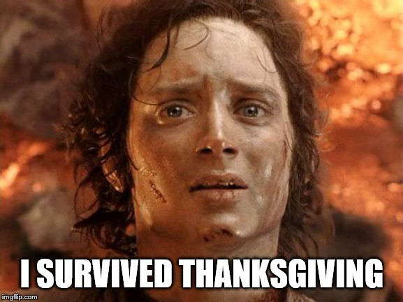 It's Finally Over | I SURVIVED THANKSGIVING | image tagged in memes,its finally over | made w/ Imgflip meme maker