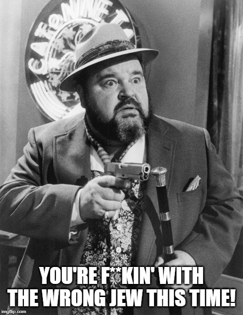 YOU'RE F**KIN' WITH THE WRONG JEW THIS TIME! | image tagged in dom deluise loose cannons | made w/ Imgflip meme maker