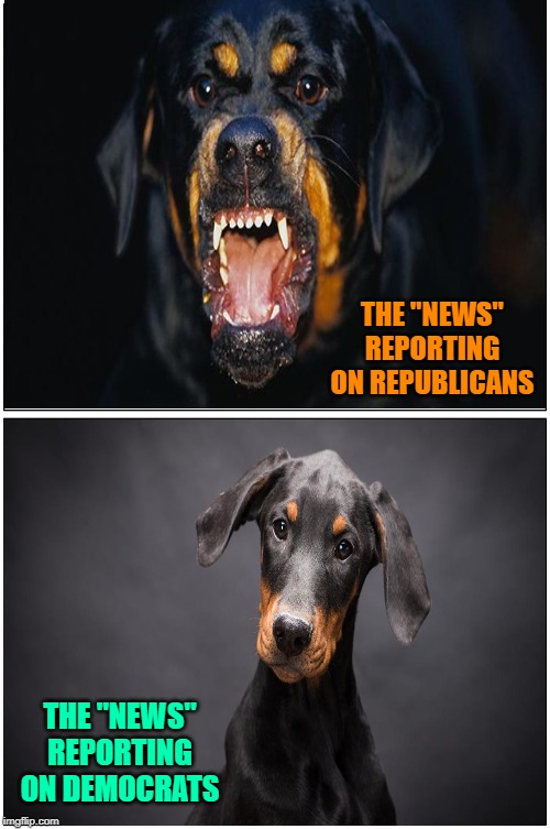 "Jeckyll and tan 'yer Hyde | THE ""NEWS"" REPORTING ON REPUBLICANS THE ""NEWS"" REPORTING ON DEMOCRATS 