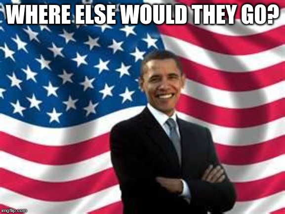 Obama Meme | WHERE ELSE WOULD THEY G0? | image tagged in memes,obama | made w/ Imgflip meme maker