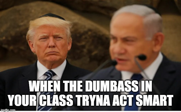 WHEN THE DUMBASS IN YOUR CLASS TRYNA ACT SMART | image tagged in trump 2016 | made w/ Imgflip meme maker
