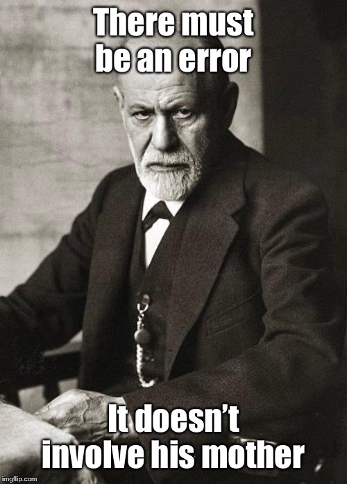 Freud | There must be an error It doesn't involve his mother | image tagged in freud | made w/ Imgflip meme maker