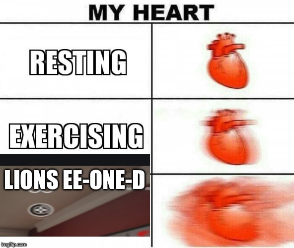 MY HEART | LIONS EE-ONE-D | image tagged in my heart | made w/ Imgflip meme maker