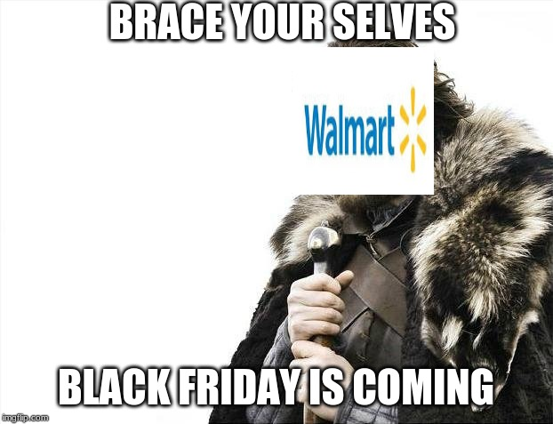 Brace Yourselves X is Coming Meme | BRACE YOUR SELVES BLACK FRIDAY IS COMING | image tagged in memes,brace yourselves x is coming | made w/ Imgflip meme maker