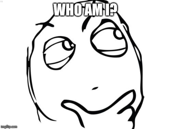 Question Rage Face |  WHO AM I? | image tagged in memes,question rage face | made w/ Imgflip meme maker