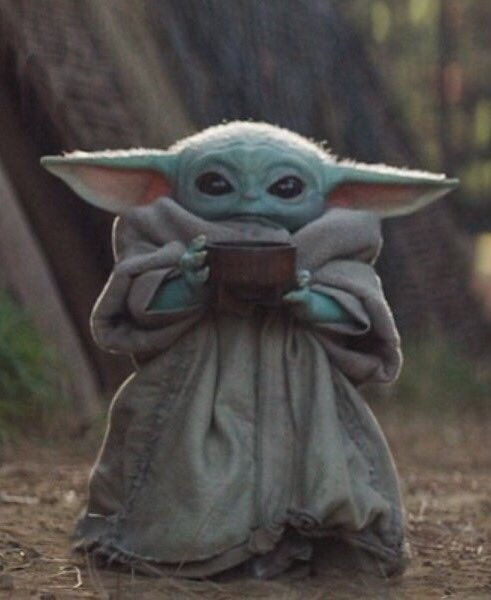 Sipping Baby Yoda Blank Template Imgflip