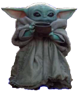 Baby Yoda With Soup Transparent Bg Blank Template Imgflip