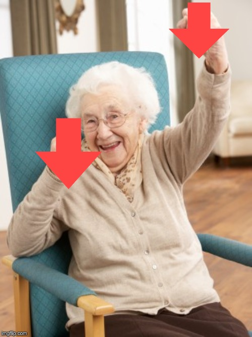 old woman cheering | image tagged in old woman cheering | made w/ Imgflip meme maker