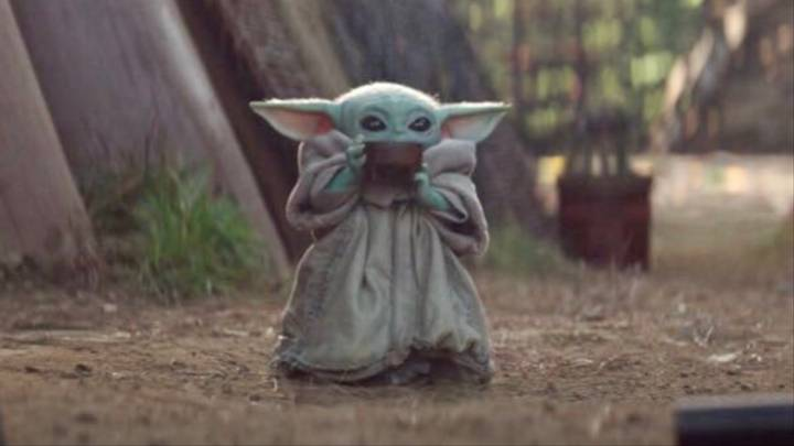 Baby Yoda Drinking From Cup Blank Template Imgflip