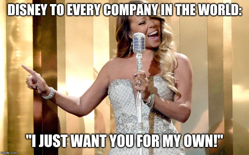 "Mariah Carey | DISNEY TO EVERY COMPANY IN THE WORLD: ""I JUST WANT YOU FOR MY OWN!"" 