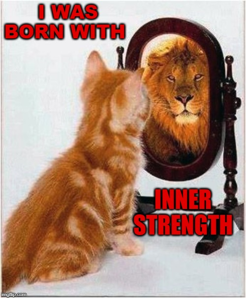 I WAS BORN WITH INNER STRENGTH | image tagged in inner strenght,positivity,affirmation | made w/ Imgflip meme maker
