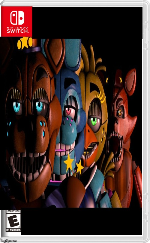 the new five nights a freddy's game | image tagged in fake switch game,five nights at freddys | made w/ Imgflip meme maker