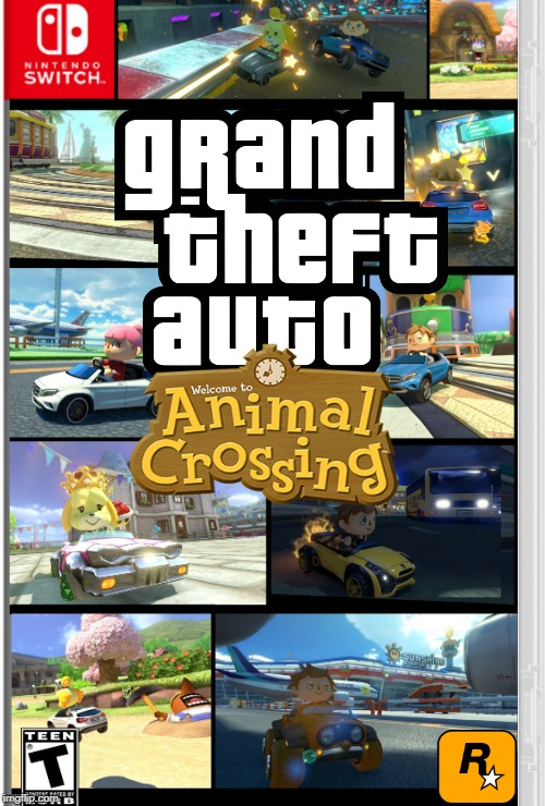 GTA-AC | image tagged in gta,grand theft auto,nintendo switch,animal crossing,gta animal crossing | made w/ Imgflip meme maker