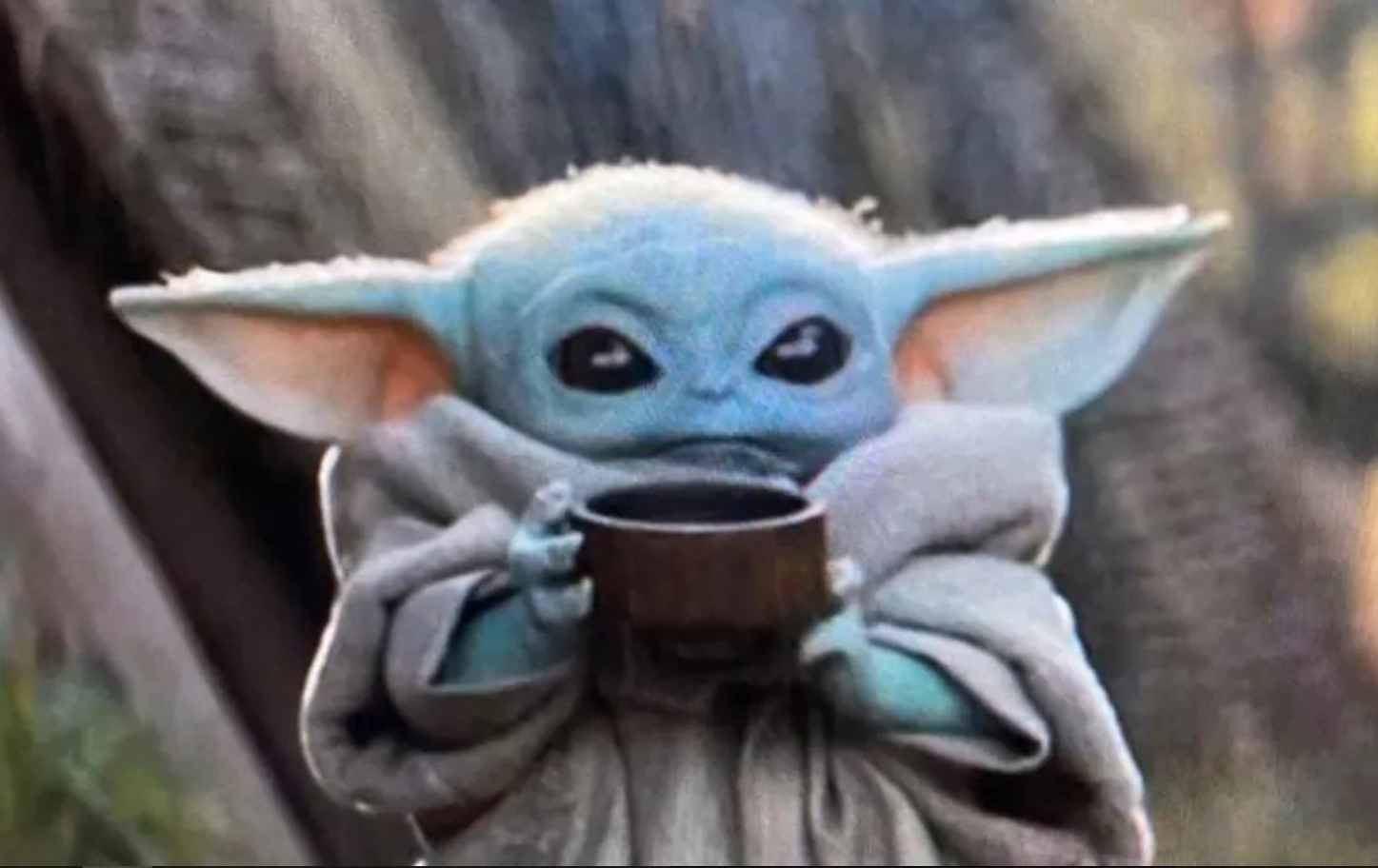 Baby Yoda Drinking Soup Blank Template Imgflip