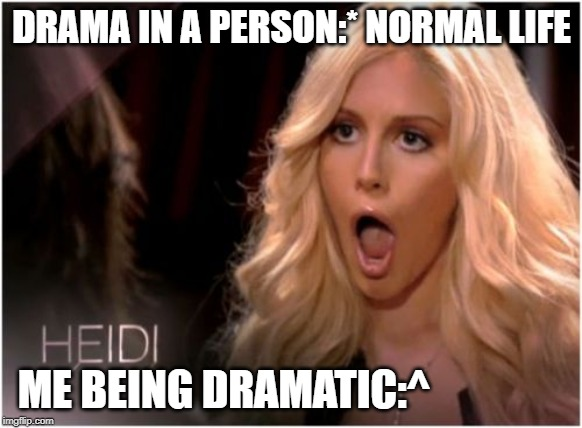 So Much Drama |  DRAMA IN A PERSON:* NORMAL LIFE; ME BEING DRAMATIC:^ | image tagged in memes,so much drama | made w/ Imgflip meme maker