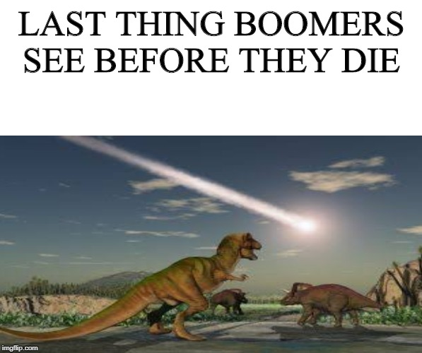 LAST THING BOOMERS SEE BEFORE THEY DIE | image tagged in baby boomers | made w/ Imgflip meme maker