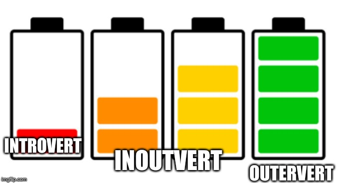 Batteries | INTROVERT OUTERVERT INOUTVERT | image tagged in batteries | made w/ Imgflip meme maker