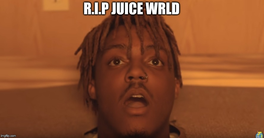 shocked juice wrld |  R.I.P JUICE WRLD | image tagged in shocked juice wrld,memes,respect,bandit,rest in peace,rip | made w/ Imgflip meme maker