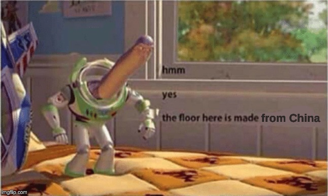 hmm yes the floor here is made out of floor | from China | image tagged in hmm yes the floor here is made out of floor | made w/ Imgflip meme maker