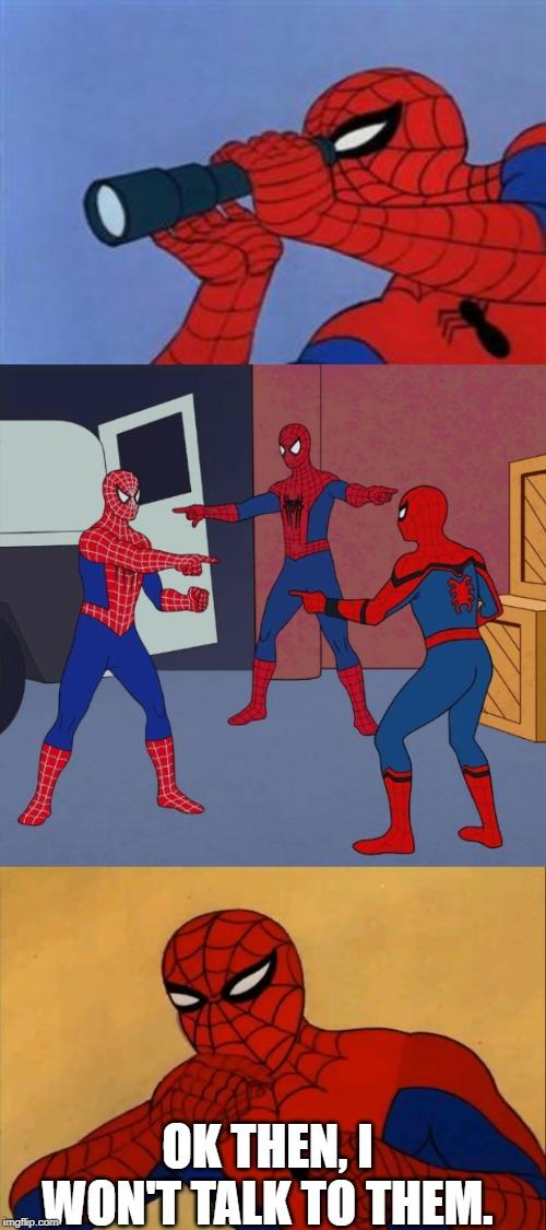 Image tagged in shocked spider-man,spiderman binoculars ...