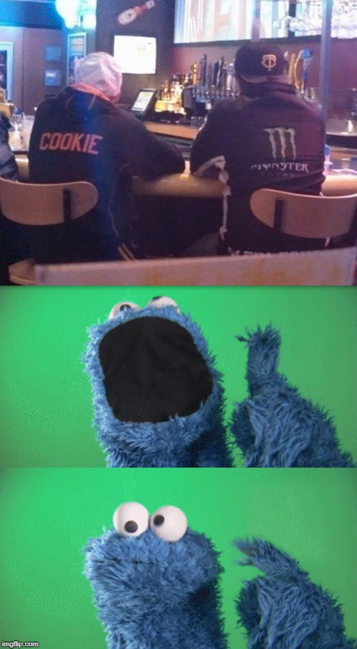 image tagged in cookie monster wait what,wait what,memes,cookie monster,confusion | made w/ Imgflip meme maker