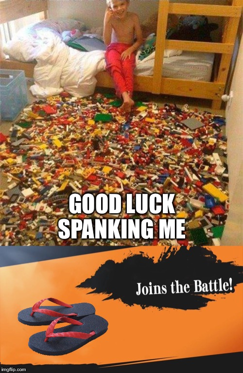 GOOD LUCK SPANKING ME | image tagged in lego obstacle,smash bros | made w/ Imgflip meme maker