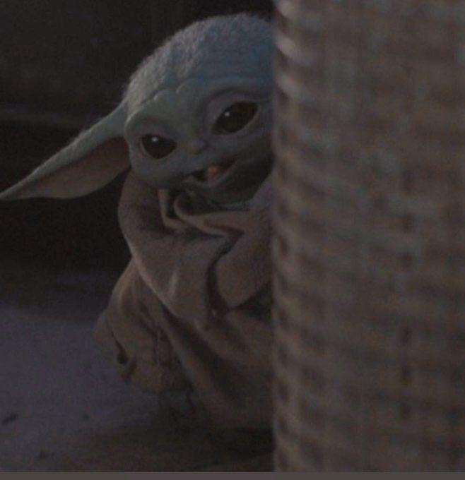 Baby Yoda Happy Blank Template Imgflip