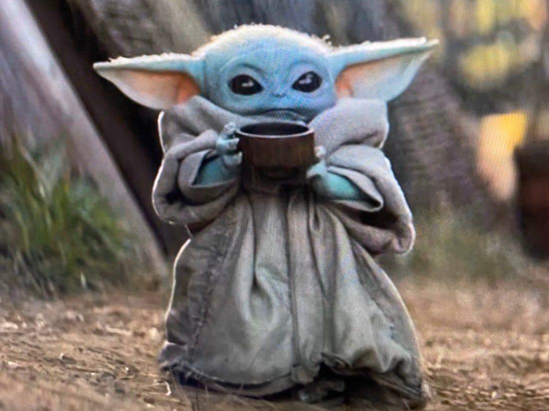 Baby Yoda Tea Sipping Blank Template Imgflip