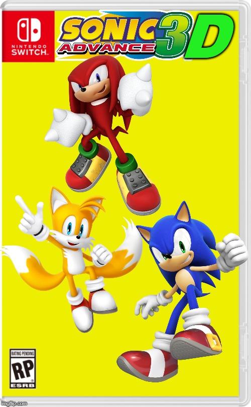 3d Sonic Advance Imgflip
