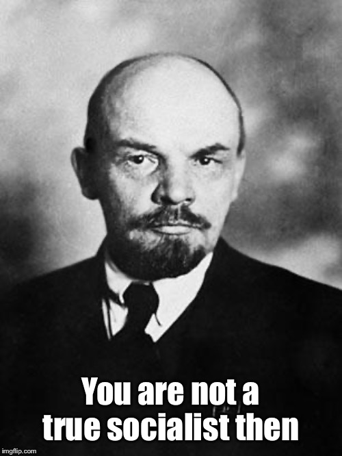 Lenin | You are not a true socialist then | image tagged in lenin | made w/ Imgflip meme maker