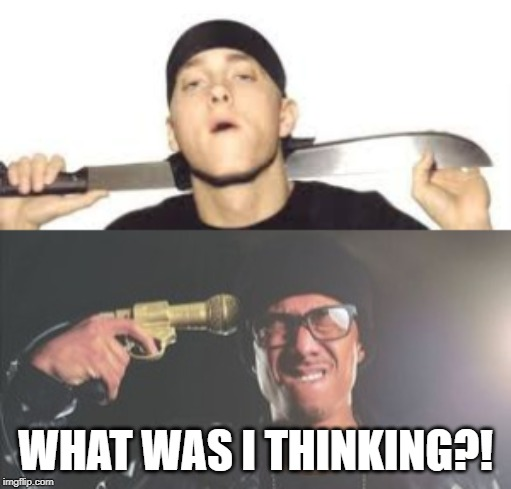 Nick Cannon vs. Eminem |  WHAT WAS I THINKING?! | image tagged in eminem,eminem rap,nickelodeon,epic rap battles of history,rap battle,jokes | made w/ Imgflip meme maker
