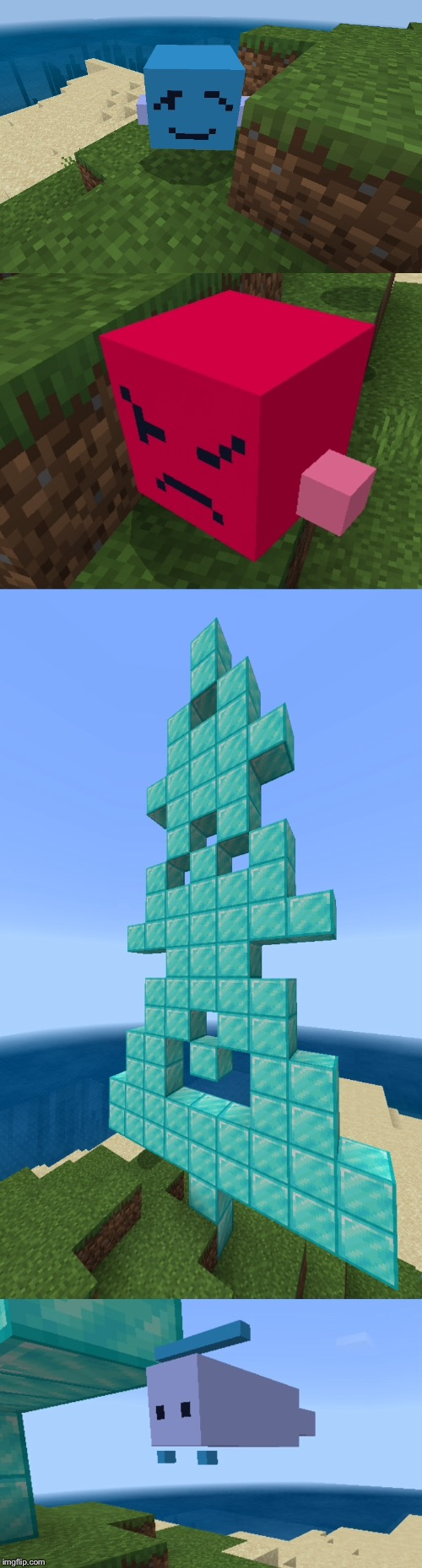 the minecraft just shapes and beats update. | image tagged in jsab,minecraft | made w/ Imgflip meme maker