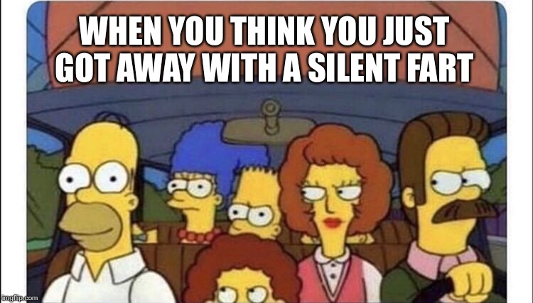 How do they always know? | WHEN YOU THINK YOU JUST GOT AWAY WITH A SILENT FART | image tagged in memes,homer simpson,the simpsons,silent but deadly,confession bear | made w/ Imgflip meme maker