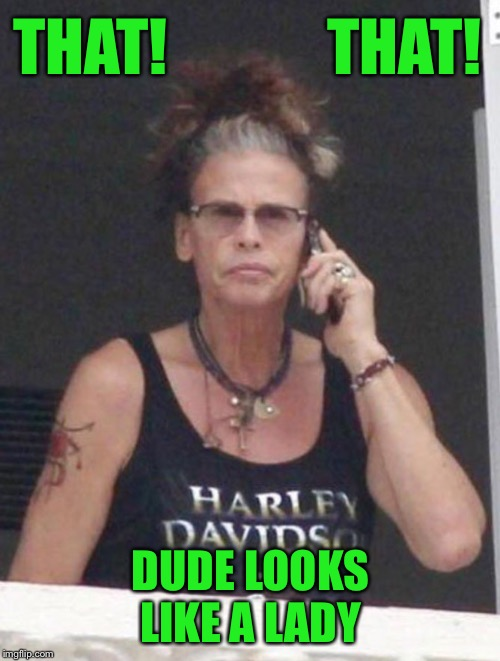 THAT!             THAT! DUDE LOOKS LIKE A LADY | made w/ Imgflip meme maker