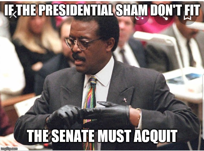 You must acquit! |  IF THE PRESIDENTIAL SHAM DON'T FIT; THE SENATE MUST ACQUIT | image tagged in donald trump,trump,pelosi,nancy pelosi,impeachment,impeach trump | made w/ Imgflip meme maker